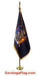 .Indoor Presentation Kit- NYS Flag - DELUXE_7ft_8ft_9ft Pole